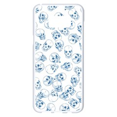 A Lot Of Skulls Blue Samsung Galaxy S8 Plus White Seamless Case by jumpercat