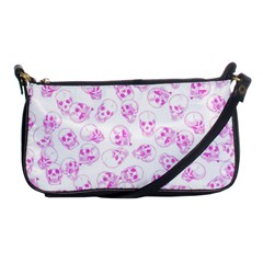 A Lot Of Skulls Pink Shoulder Clutch Bags by jumpercat