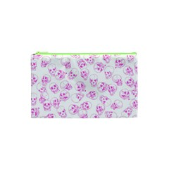 A Lot Of Skulls Pink Cosmetic Bag (xs) by jumpercat