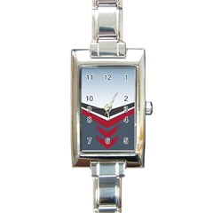 Modern Shapes Rectangle Italian Charm Watch by jumpercat