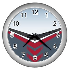 Modern Shapes Wall Clocks (silver)  by jumpercat