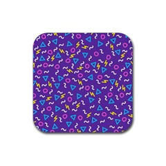 Retro Wave 1 Rubber Coaster (square)  by jumpercat