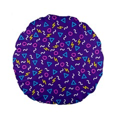 Retro Wave 1 Standard 15  Premium Flano Round Cushions by jumpercat