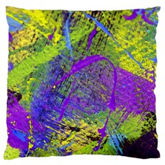 Ink Splash 02 Large Flano Cushion Case (two Sides) by jumpercat