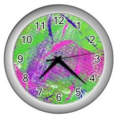 Ink Splash 03 Wall Clocks (silver)  by jumpercat