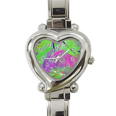 Ink Splash 03 Heart Italian Charm Watch by jumpercat