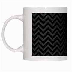 Dark Chevron White Mugs by jumpercat