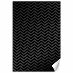 Dark Chevron Canvas 12  X 18   by jumpercat