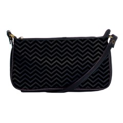 Dark Chevron Shoulder Clutch Bags by jumpercat