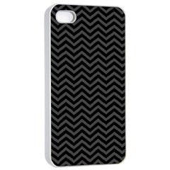 Dark Chevron Apple Iphone 4/4s Seamless Case (white) by jumpercat
