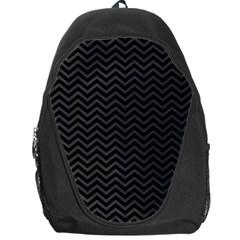 Dark Chevron Backpack Bag by jumpercat