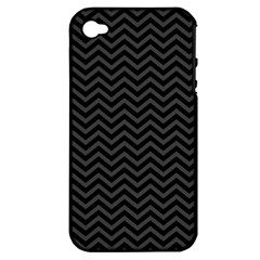 Dark Chevron Apple Iphone 4/4s Hardshell Case (pc+silicone) by jumpercat