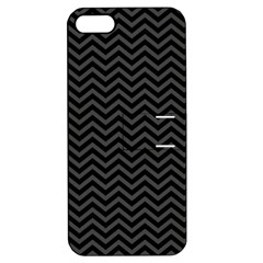 Dark Chevron Apple Iphone 5 Hardshell Case With Stand by jumpercat