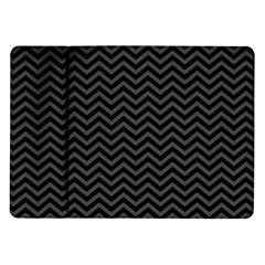 Dark Chevron Samsung Galaxy Tab 10 1  P7500 Flip Case by jumpercat