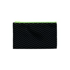 Dark Chevron Cosmetic Bag (xs) by jumpercat