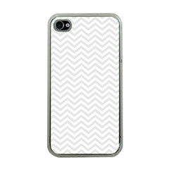 Light Chevron Apple Iphone 4 Case (clear) by jumpercat