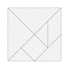 Light Chevron Acrylic Tangram Puzzle (6  X 6 ) by jumpercat