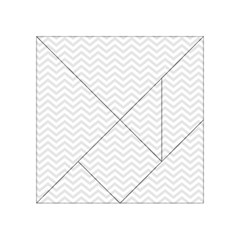 Light Chevron Acrylic Tangram Puzzle (4  X 4 ) by jumpercat