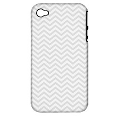 Light Chevron Apple Iphone 4/4s Hardshell Case (pc+silicone) by jumpercat