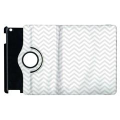Light Chevron Apple Ipad 3/4 Flip 360 Case by jumpercat