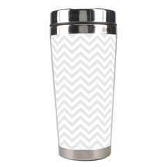 Light Chevron Stainless Steel Travel Tumblers by jumpercat