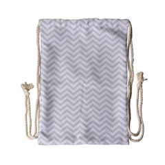 Light Chevron Drawstring Bag (small) by jumpercat