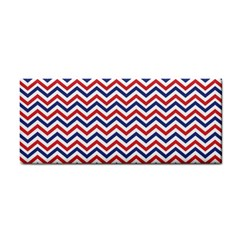 Navy Chevron Cosmetic Storage Cases by jumpercat