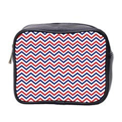 Navy Chevron Mini Toiletries Bag 2 Side by jumpercat