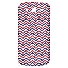 Navy Chevron Samsung Galaxy S3 S Iii Classic Hardshell Back Case by jumpercat