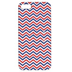 Navy Chevron Apple Iphone 5 Hardshell Case With Stand by jumpercat