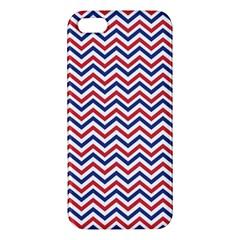 Navy Chevron Apple Iphone 5 Premium Hardshell Case by jumpercat