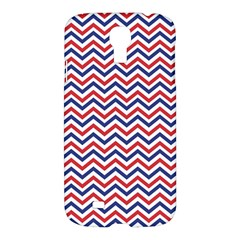 Navy Chevron Samsung Galaxy S4 I9500/i9505 Hardshell Case by jumpercat
