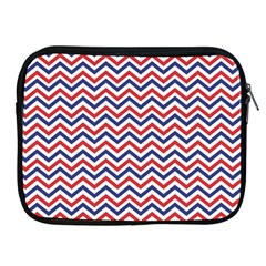 Navy Chevron Apple Ipad 2/3/4 Zipper Cases by jumpercat