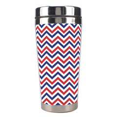 Navy Chevron Stainless Steel Travel Tumblers by jumpercat