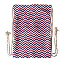 Navy Chevron Drawstring Bag (large) by jumpercat