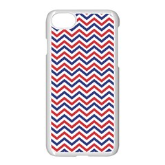 Navy Chevron Apple Iphone 7 Seamless Case (white) by jumpercat