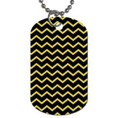 Yellow Chevron Dog Tag (two Sides) by jumpercat