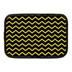 Yellow Chevron Netbook Case (medium)  by jumpercat