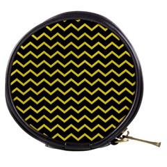 Yellow Chevron Mini Makeup Bags by jumpercat