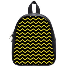 Yellow Chevron School Bag (small) by jumpercat