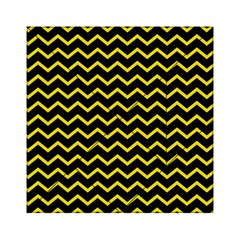 Yellow Chevron Acrylic Tangram Puzzle (6  X 6 ) by jumpercat