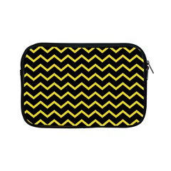 Yellow Chevron Apple Ipad Mini Zipper Cases by jumpercat