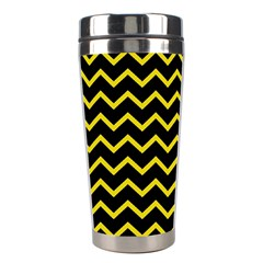 Yellow Chevron Stainless Steel Travel Tumblers by jumpercat
