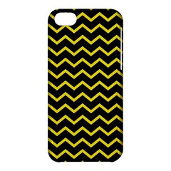 Yellow Chevron Apple Iphone 5c Hardshell Case by jumpercat
