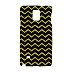Yellow Chevron Samsung Galaxy Note 4 Hardshell Case by jumpercat