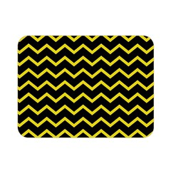 Yellow Chevron Double Sided Flano Blanket (mini)  by jumpercat