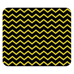 Yellow Chevron Double Sided Flano Blanket (small)  by jumpercat