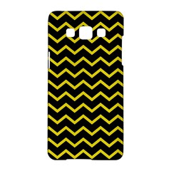 Yellow Chevron Samsung Galaxy A5 Hardshell Case  by jumpercat
