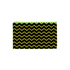 Yellow Chevron Cosmetic Bag (xs) by jumpercat