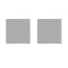 Basic Horizontal Stripes Cufflinks (square) by jumpercat